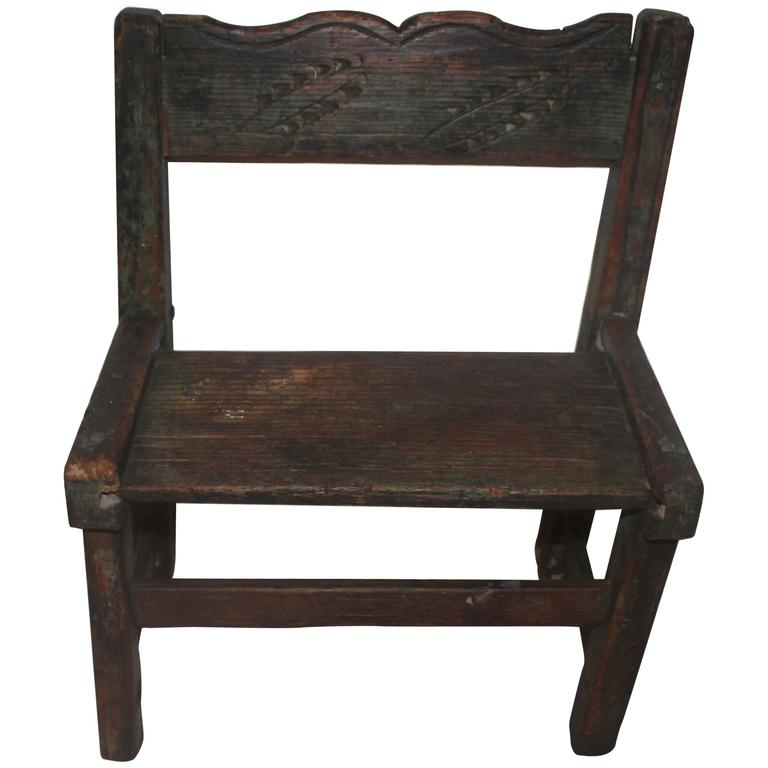 Early 19th Century Pueblo Indian Child 39 S Chair At 1stdibs