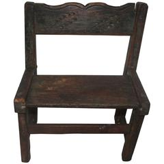 Early 19th Century Pueblo Indian Child's Chair