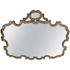 Venetian Shield Mirror with Marblezed Mirrored Frame