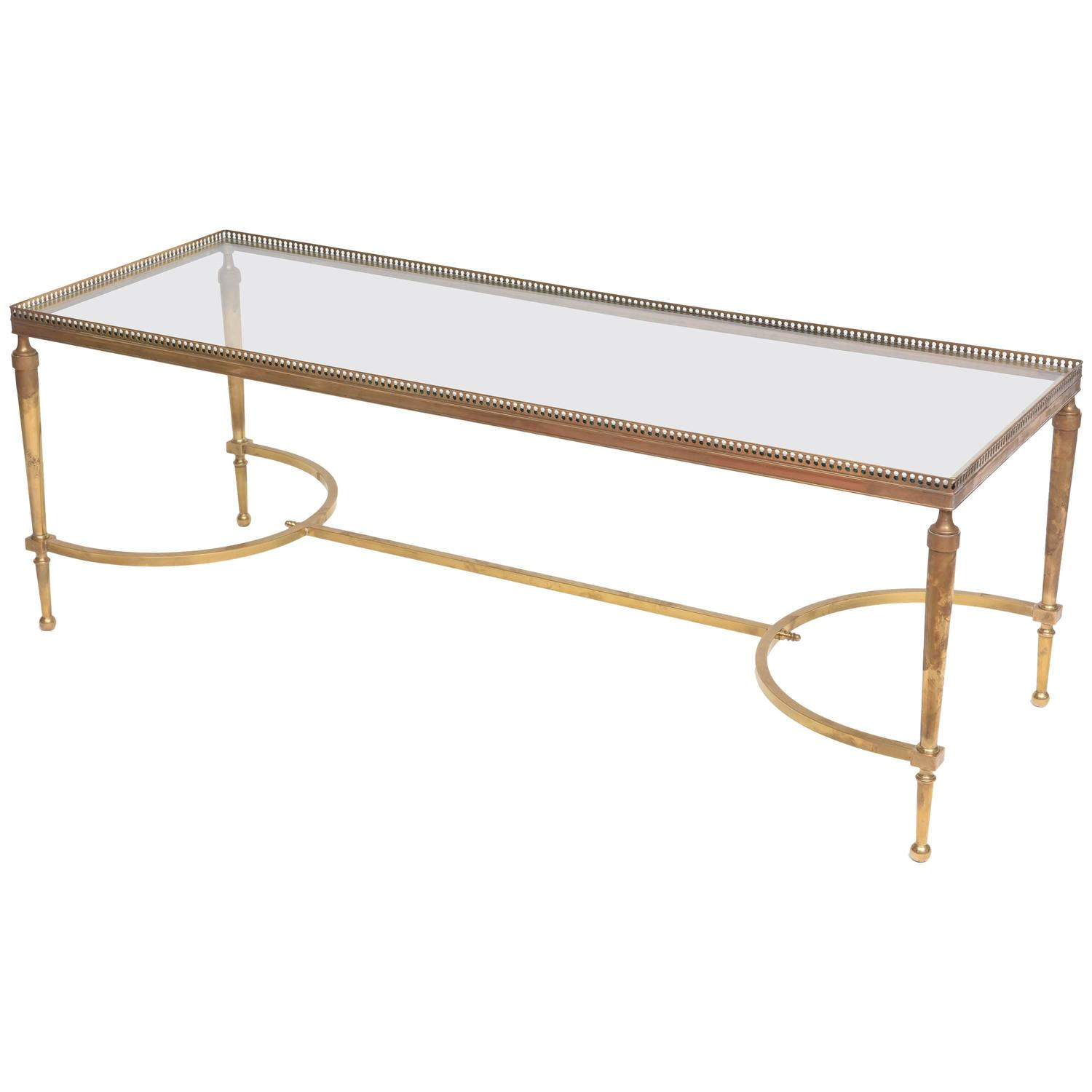 Rare Maison Jansen Bronze And Glass Coffee Cocktail Table France 1940s At 1stdibs