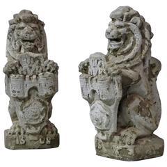 1930 Stone Decorative Lions