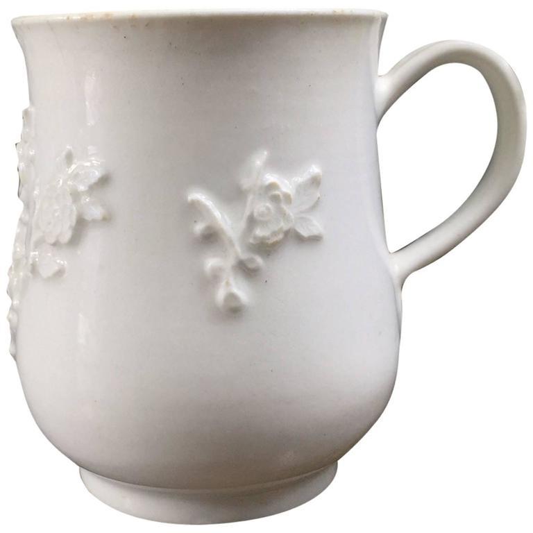 Bow Bell Shape Mug, Rose Flower Sprigging, circa 1755
