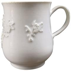Bow Bell Shape Mug, Rose Flower Sprigging, circa 1755