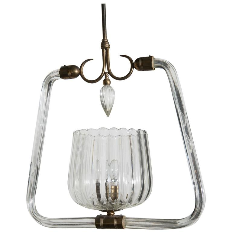 Elegant Chandelier by Gio Ponti and Venini