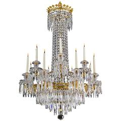 Exceptionally Fine Twelve-Light Regency Chandelier