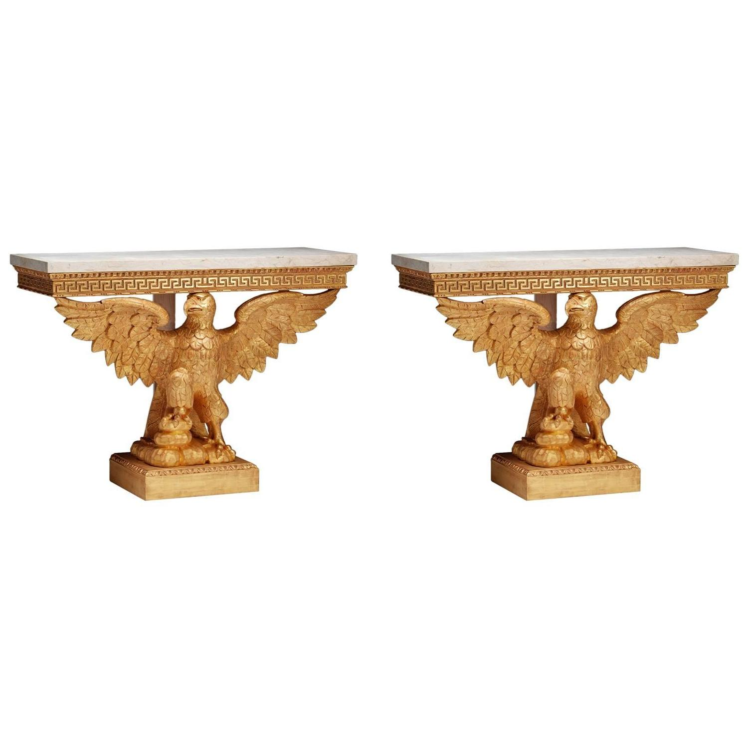 Eagle Console Tables In The Manner Of William Kent