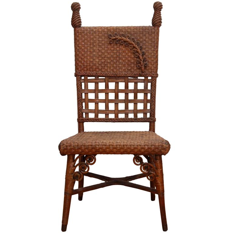 Wicker grapher s Chair For Sale at 1stdibs