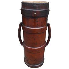 English Leather Cannon Ball Carrier, Circa 1840