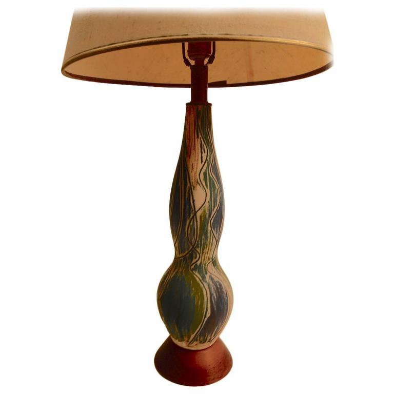 Midcentury Art Pottery Lamp