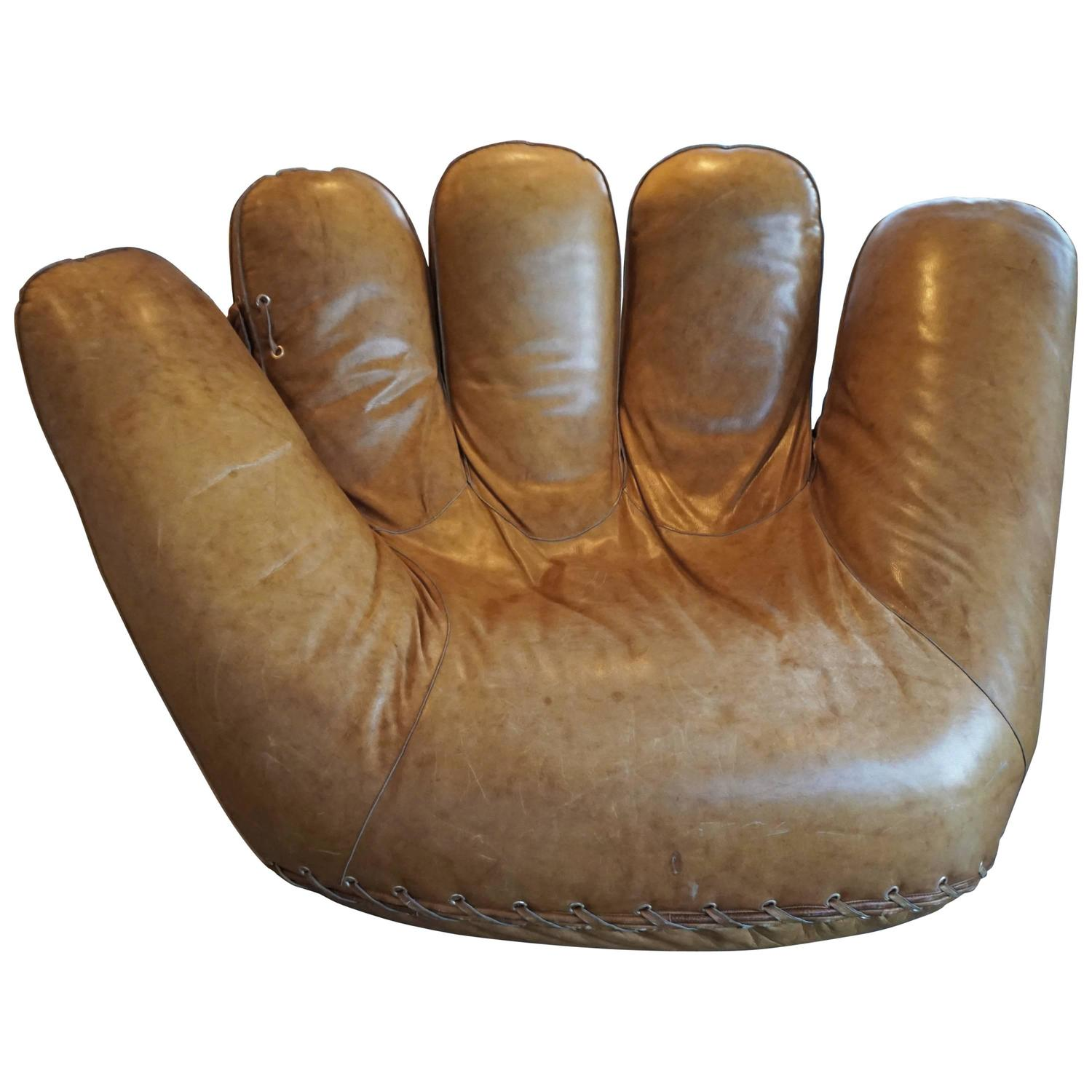 Beau Joe Baseball Glove Lounge Chair At 1stdibs