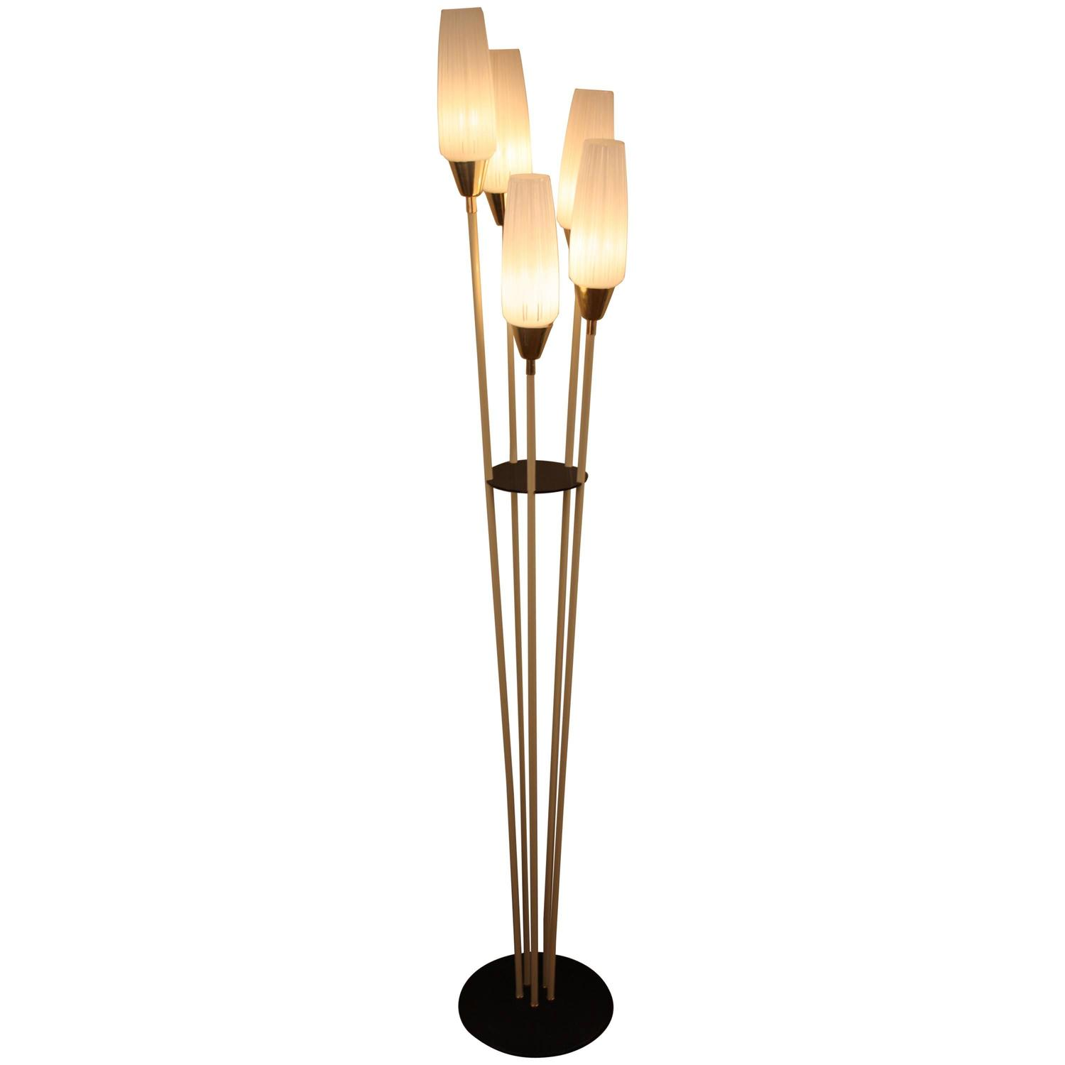 mid century french floor lamp by arlus at 1stdibs. Black Bedroom Furniture Sets. Home Design Ideas