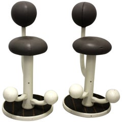 Scandinavian Modern Pair of Vintage Bar Stools by Peter Opsvik, 1985, Norway