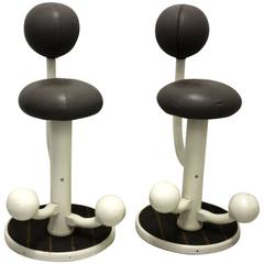 Scandinavian Modern a Pair of Bar Stools by Peter Opsvik, 1985 Norway
