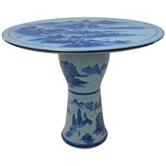Chinese Blue and White Cafe or Center Table