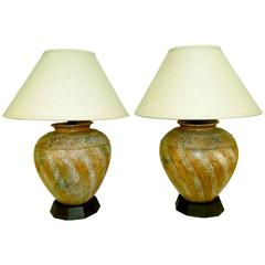 Pair of 1980s Lamps from Estate Designed by Steve Chase