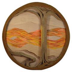 "Impressive Over Scale Textile Art ""Tree of Life"""