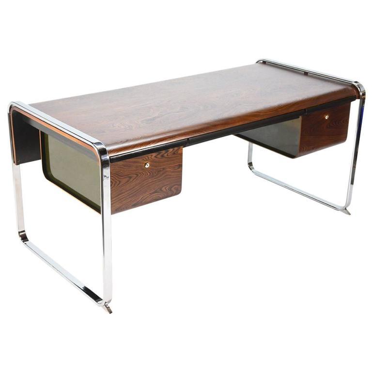 Zebrawood Desk By Peter Protzmann For Herman Miller At 1stdibs