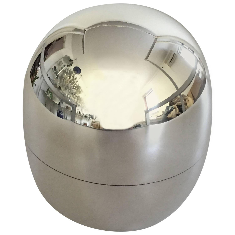 georg jensen sterling silver piet hein egg or box 1147a for sale at 1stdibs. Black Bedroom Furniture Sets. Home Design Ideas