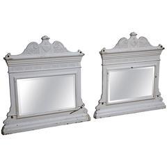 Pair of Cast Iron Mirrors