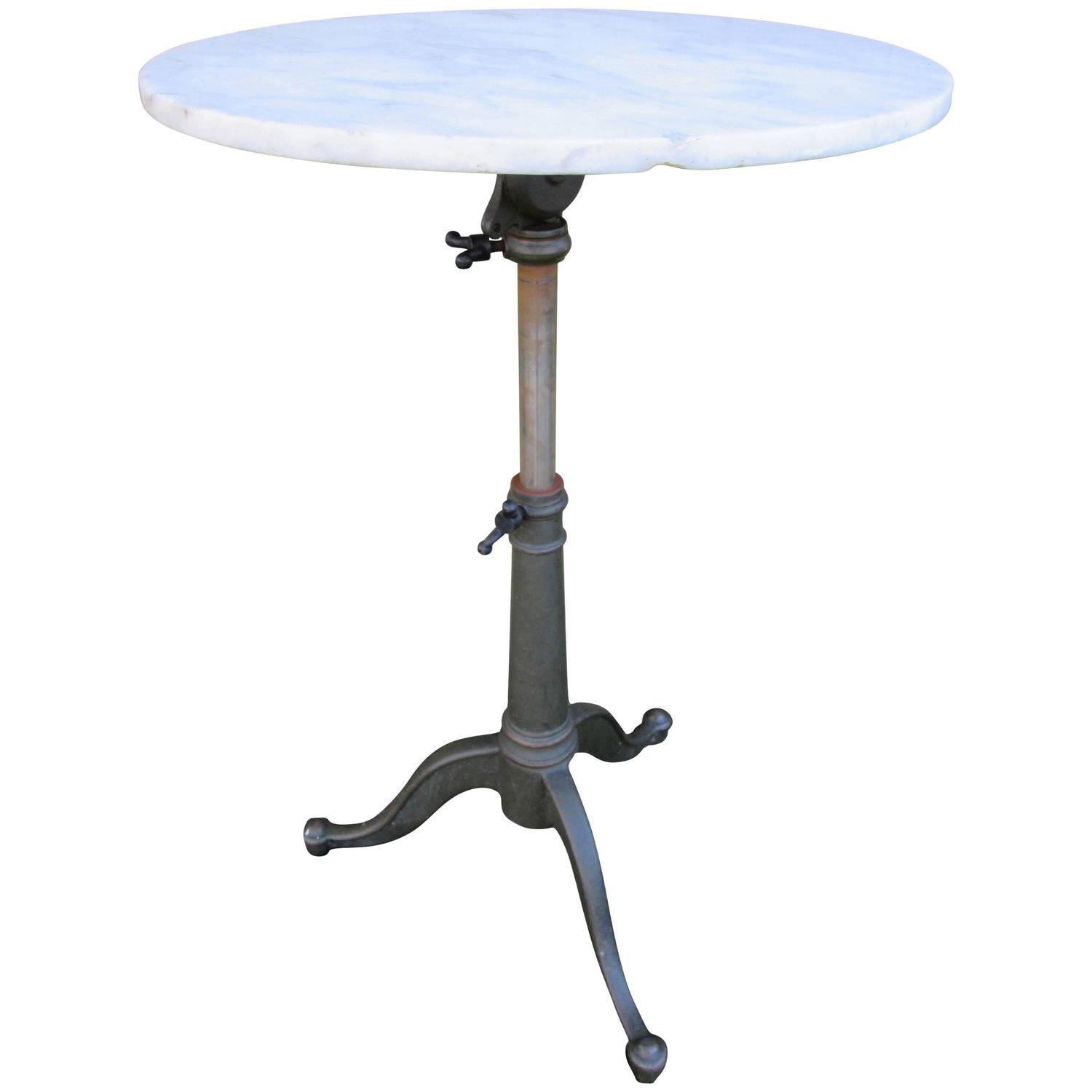 cast iron tripod table with marble top at 1stdibs. Black Bedroom Furniture Sets. Home Design Ideas