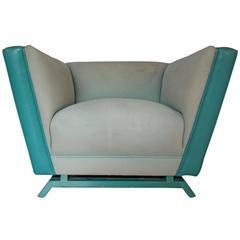 Rare Paul Laszlo Leather Club Chair
