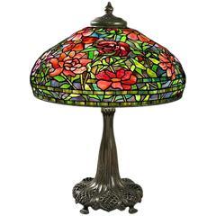 """Tiffany Studios """"Peony"""" Table Lamp"""