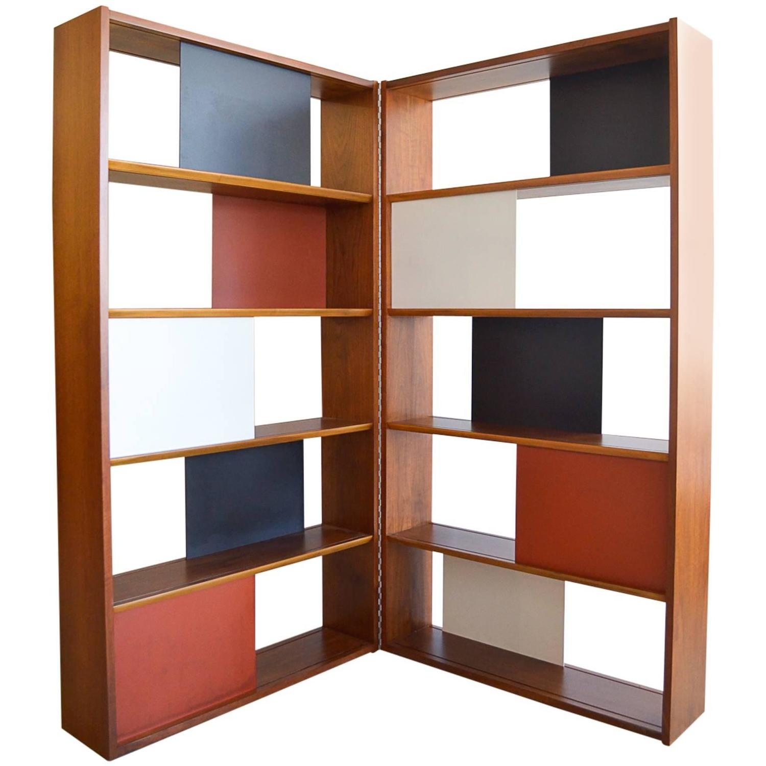 Very Impressive portraiture of Room Divider or Hinged Bookcase by Evans Clark for Glenn of California  with #79381D color and 1500x1500 pixels