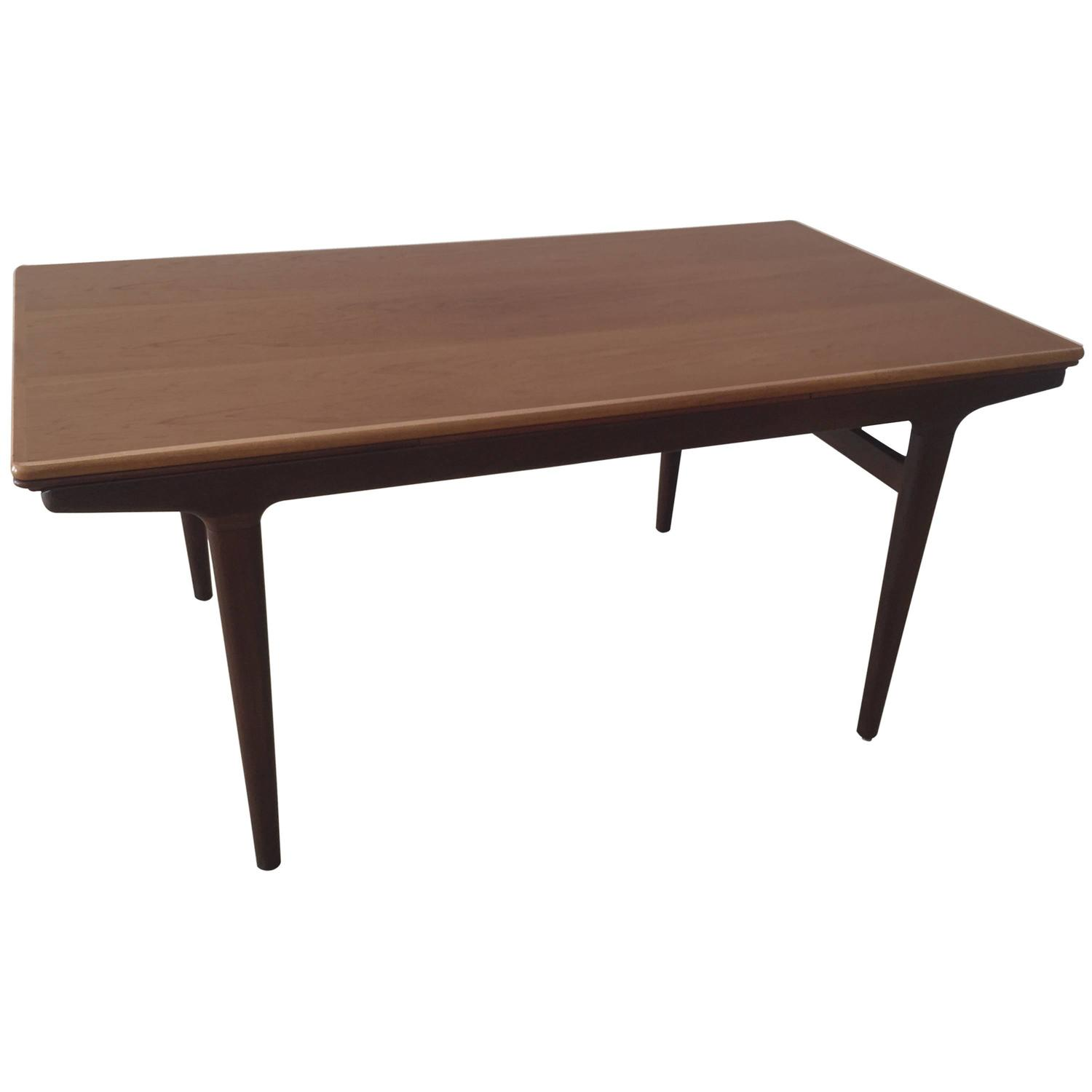 Teak Expanding Dining Table By Johannes Andersen For Uldum