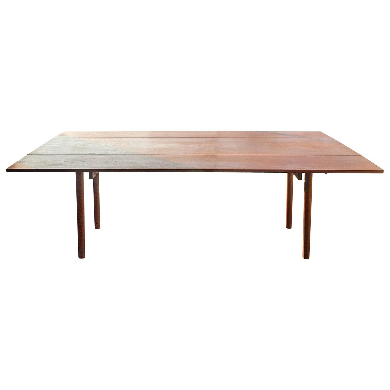 Borge mogensen large teak harvest style drop leaf dining for Large drop leaf dining room tables