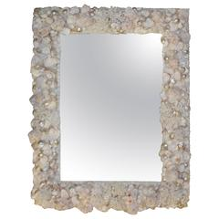 Seashell Encrusted Vintage Wall Mirror Palm Beach Vintage Coral Shell