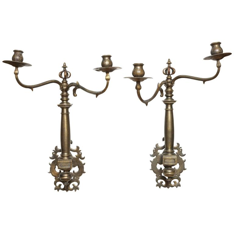 Rare Pair of Late 17th-Early 18th Century Ship Sconces