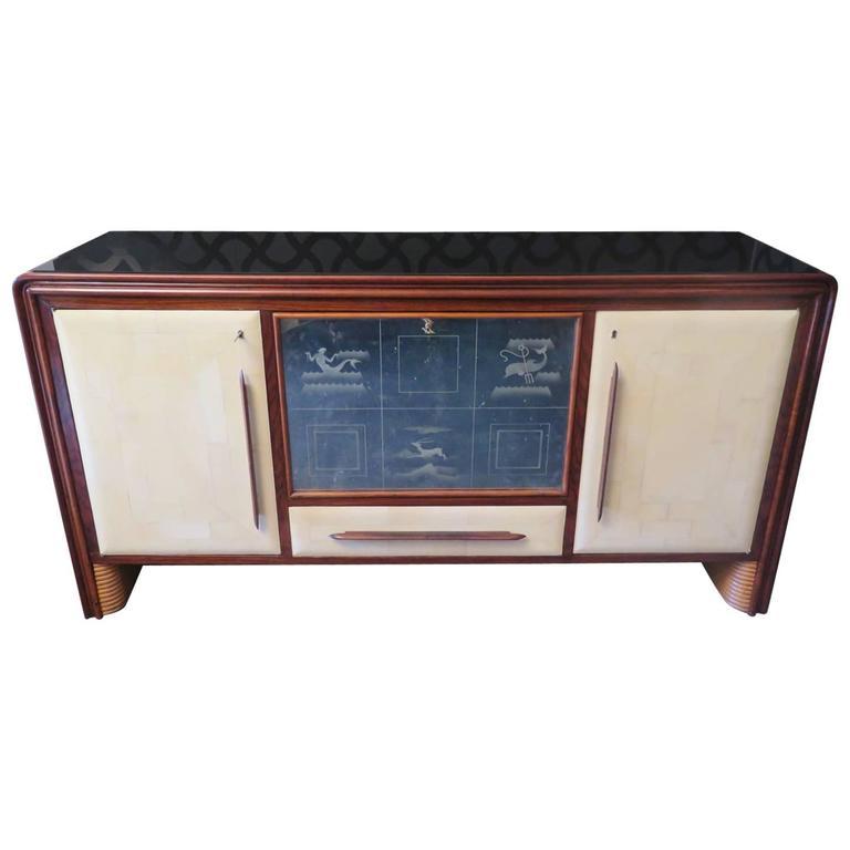 1940 Italian Art Deco Sideboard/Bar