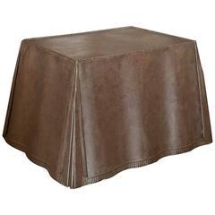 Steel Skirted-Shape Table in the Manner of John Dickinson