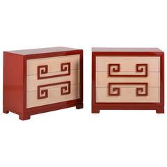 Pair of Kittinger-Designed Three-Drawer Commodes, 1950s