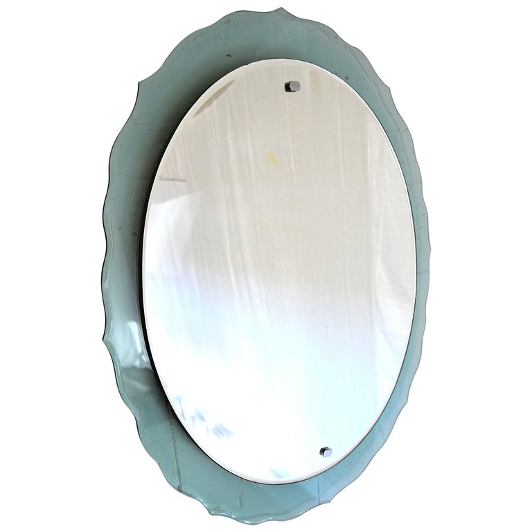 Mid Century Modern Italian Wall Mirror For Sale