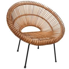 Rattan Chair by Janine Abraham / Dirk Jan Rol, France, 1960