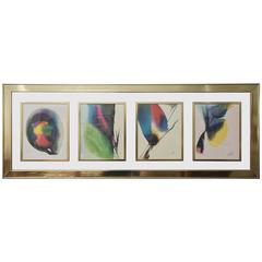 Four Series Water Colors by Paul Jenkins, 1970s, USA