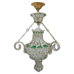 Banci Italian Beaded Cut Crystal Chandelier