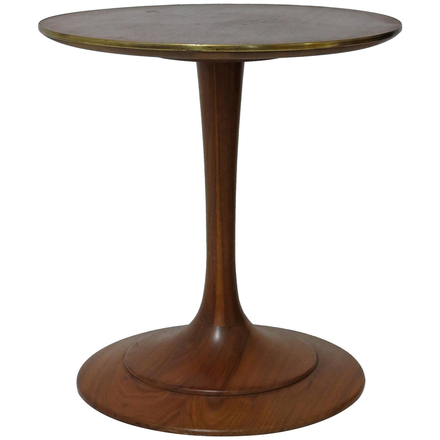 Heritage Pedestal Walnut Side Table At 1stdibs