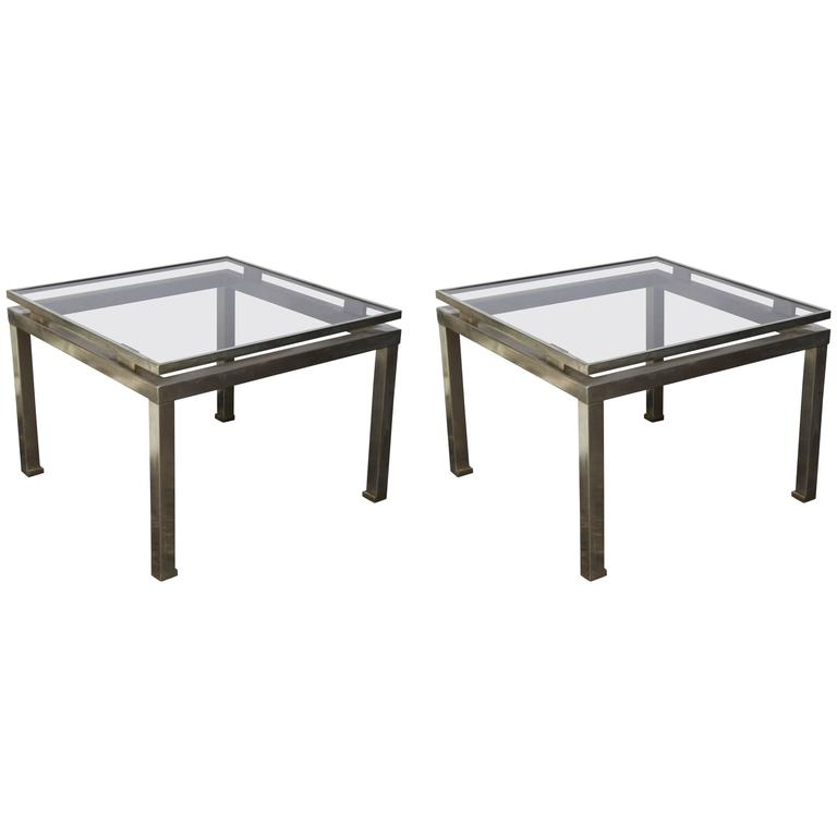 Pair of 1960s French Side Tables by Guy Lefevre