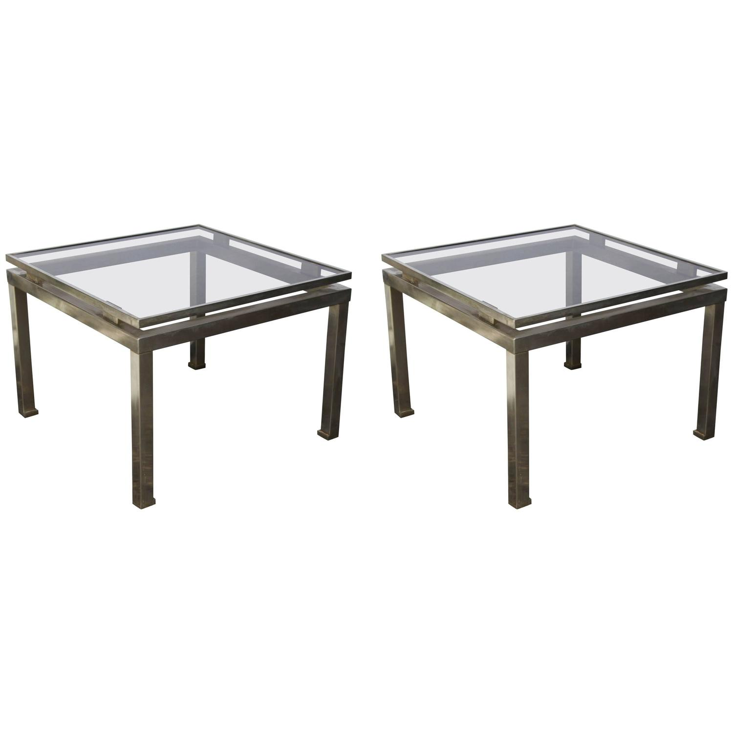 Z Gallerie Marble Coffee Table: Pair Of 1960s French Side Tables By Guy Lefevre For Sale