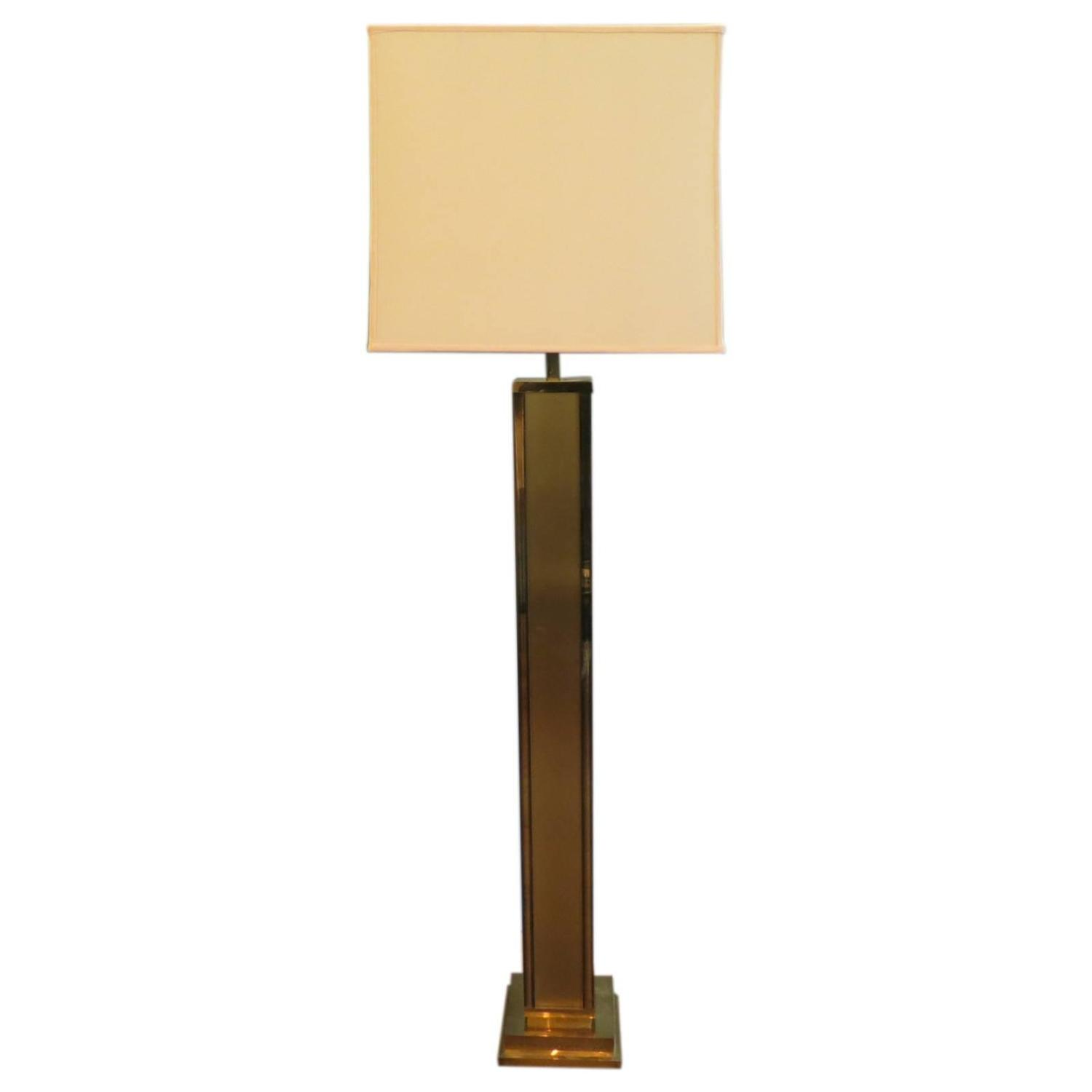 Tall italian brass floor lamp at 1stdibs for Tall lantern floor lamp