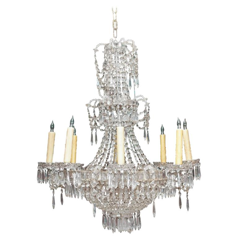 French Charles X Period Crystal Chandelier