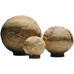 American Studio Pottery Spherical Sculptural Forms