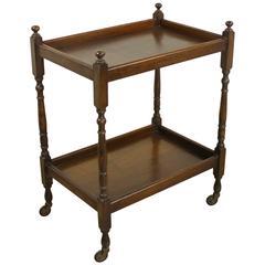 English Oak Tea Cart