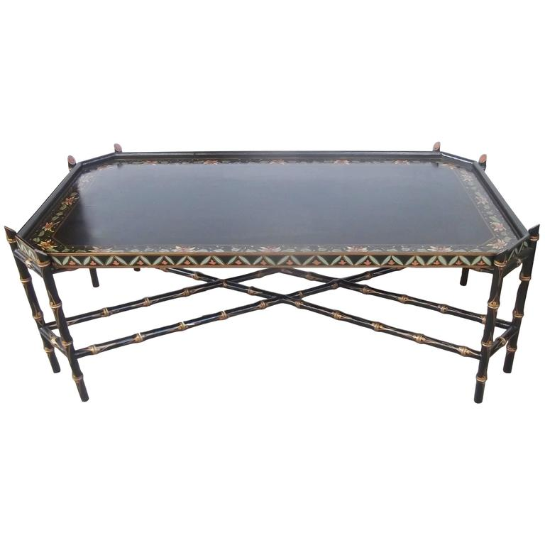 High Style Decorator Hand Painted Cocktail Table At 1stdibs