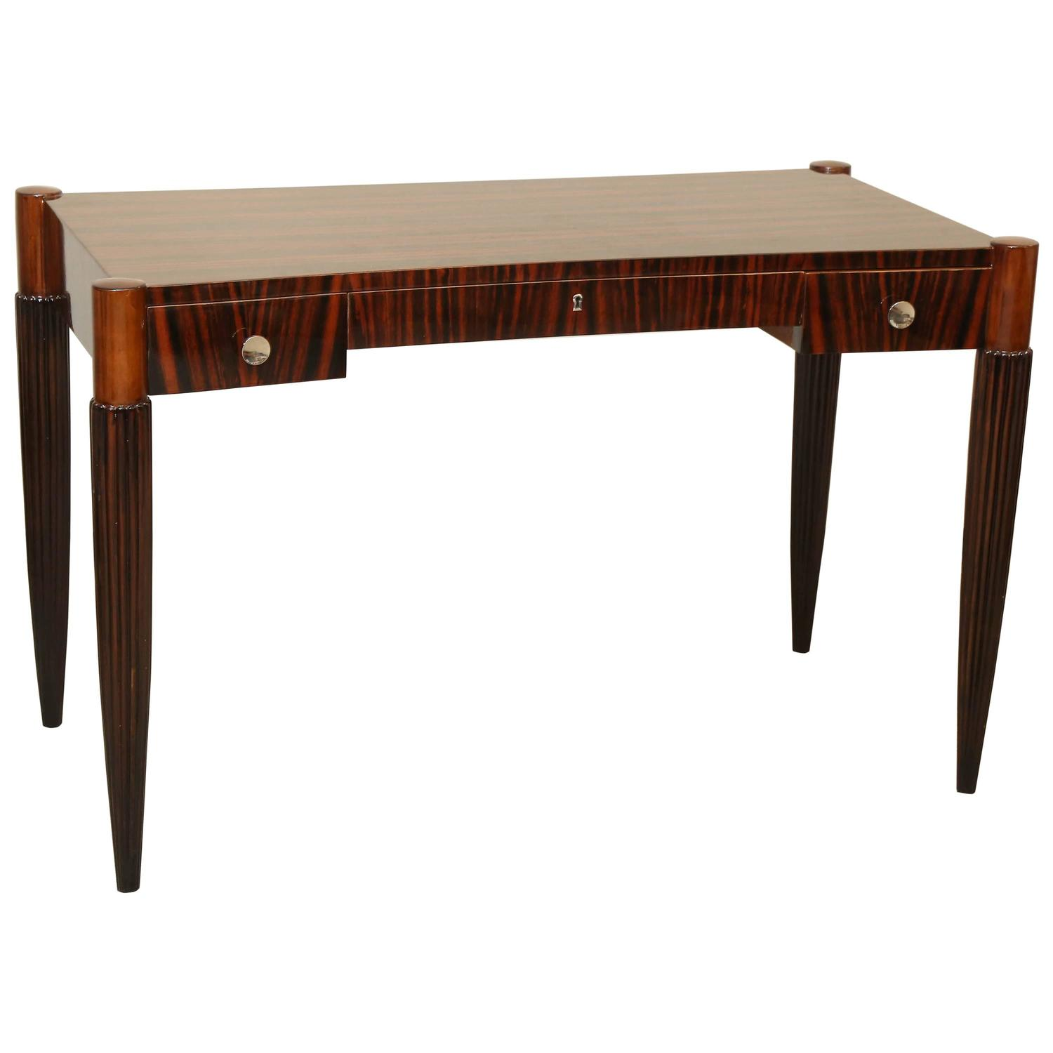Art deco elegant writing desk at 1stdibs for Art deco writing