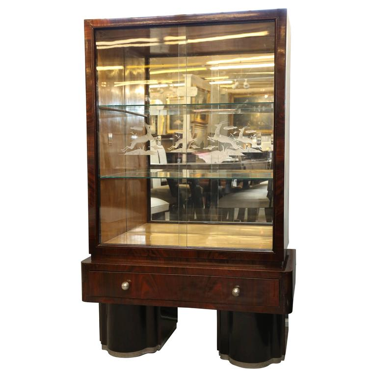 Rio Palisander Display Cabinet