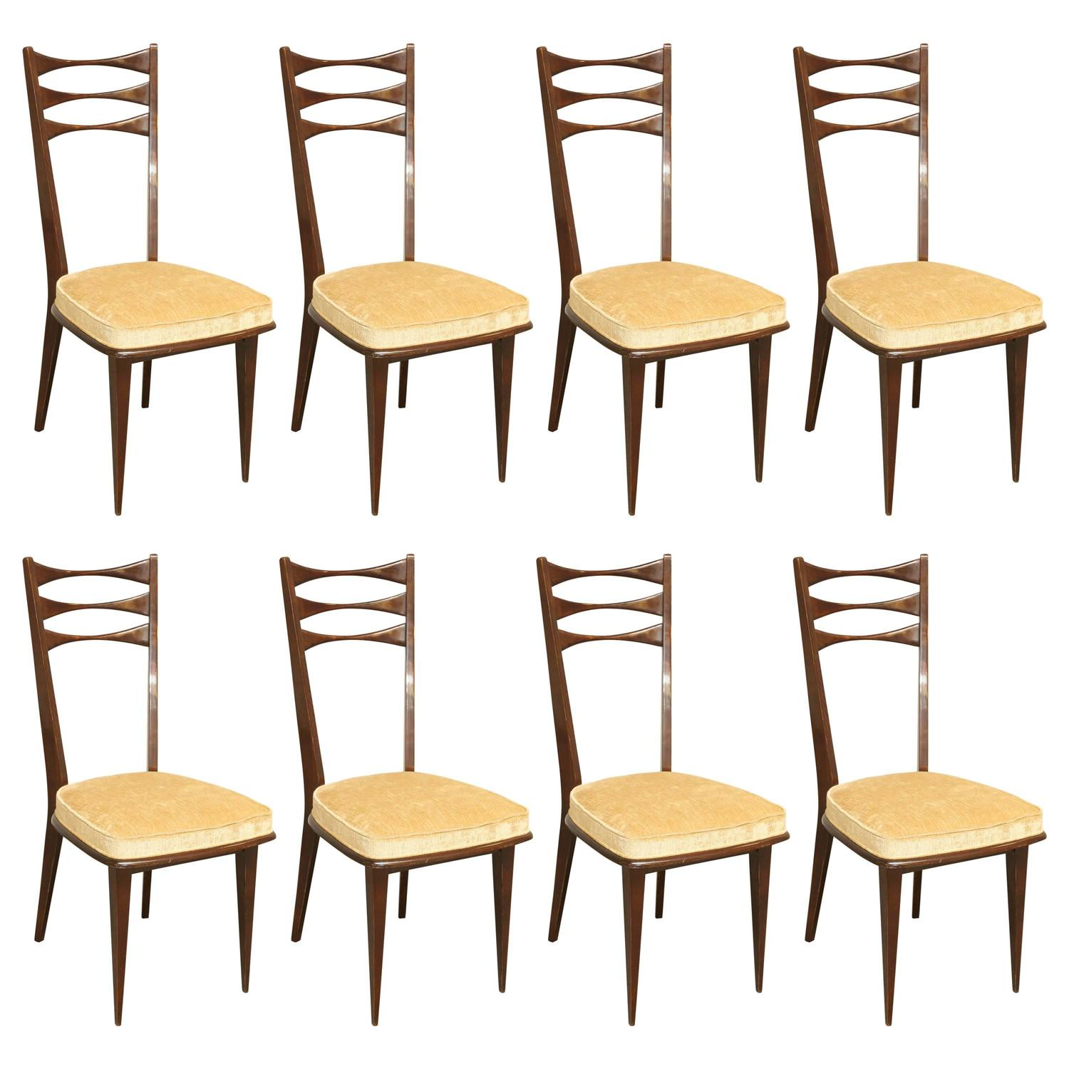 Eight Midcentury Dining Chairs In Rosewood At 1stdibs