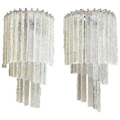 Pair of Mid-Century Murano Glass Wall Sconces